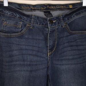 Faded Glory Skinny Premium Jeans Sz 16 Medium Wash